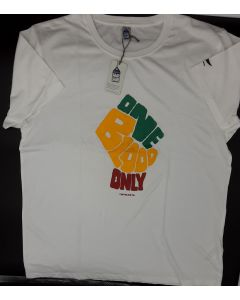 ONE BLOOD ONLY T-SHIRT - BLANCO