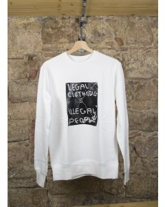 SUDADERA LEGAL - BLANCO