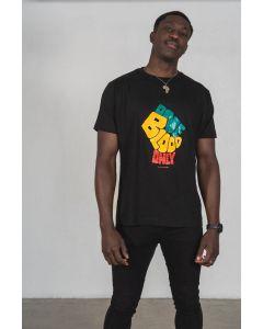 ONE BLOOD ONLY T-SHIRT - NEGRO