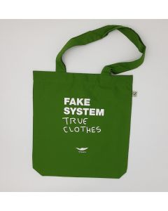 FAKE SYSTEM TOTE BAG - VERDE